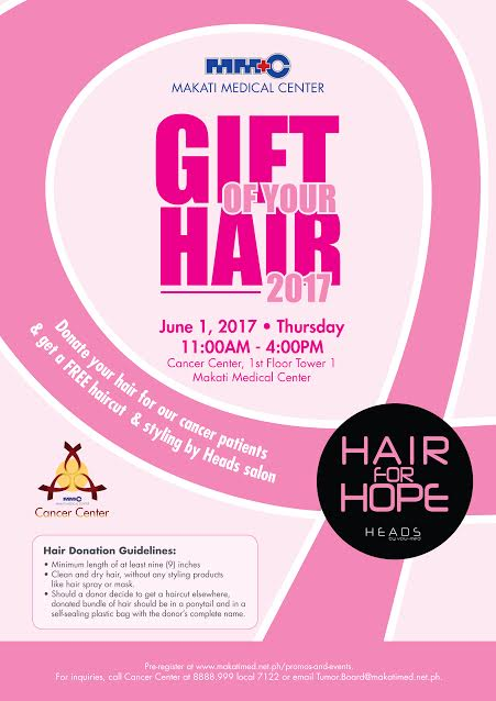 Hair donation drive donors get free haircuts from MakatiMed Cancer Center